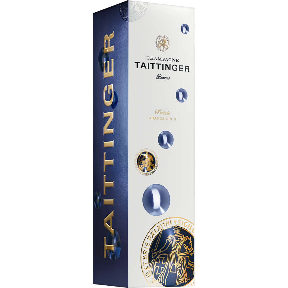 "Etui Taittinger Prélude Grands Crus ""Bubbly"" 1 x 75 cl."